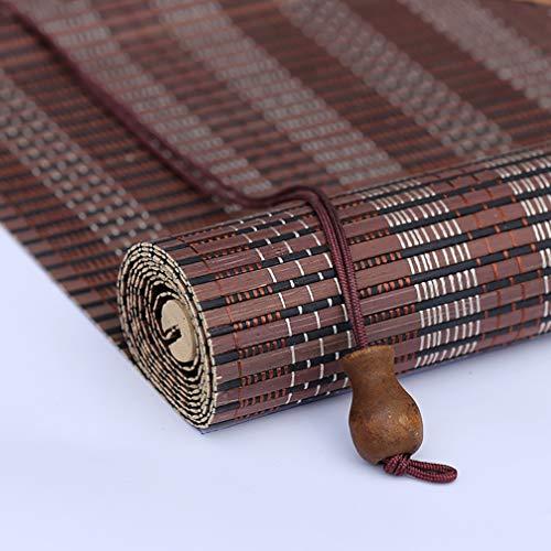 Outech Estor Exterior Sombra Persiana Exterior de Madera Natural Toldo Vertical Persiana de Bambú para Exterior/Terraza/Puerta 6 Tipos
