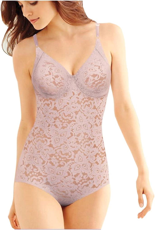 Bali Women's Shapewear Firm Control Lace 'N Smooth Built-in Bra Body Shaper Fajas DF8L10