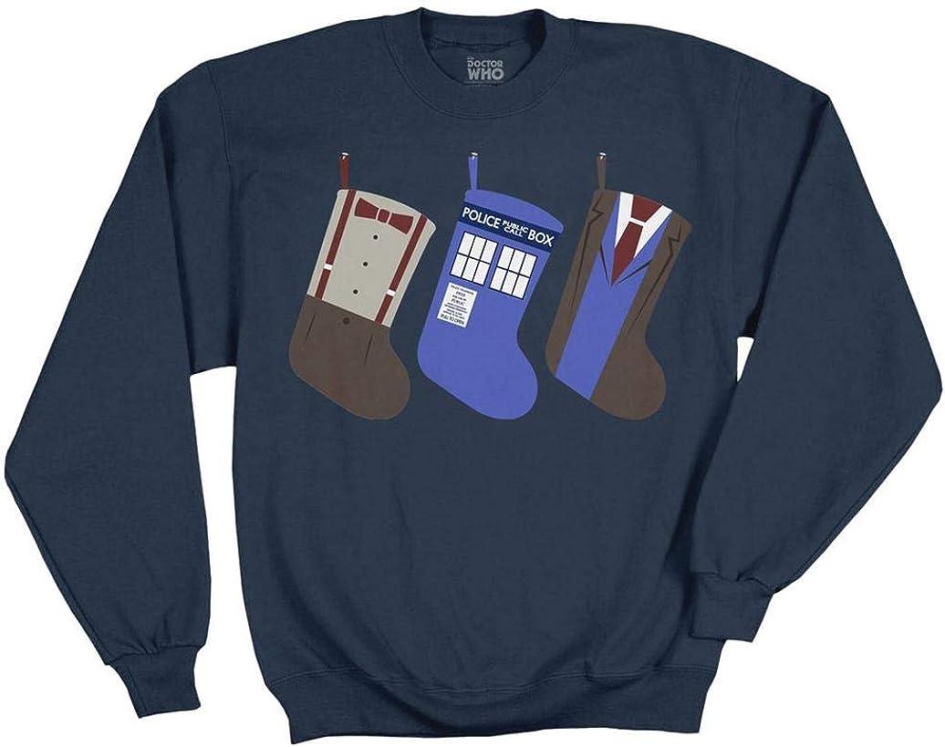 Ripple Topics on TV Junction Doctor WHO Long-awaited Adult Stockings Christmas Sweatshirt