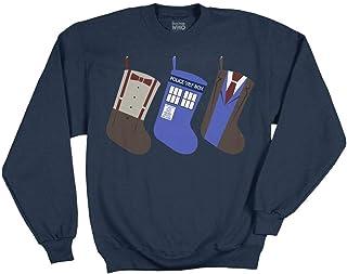 Ripple Junction Doctor Who Christmas Stockings Adult Sweatshirt