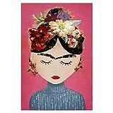 artboxONE Poster 45x30 cm Menschen Frida (pink Version)