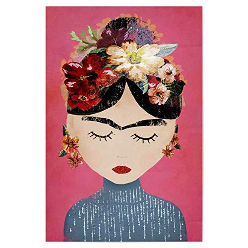 artboxONE Poster 30x20 cm Menschen Frida (pink Version) hochwertiger Design Kunstdruck - Bild Frida Frida Kahlo