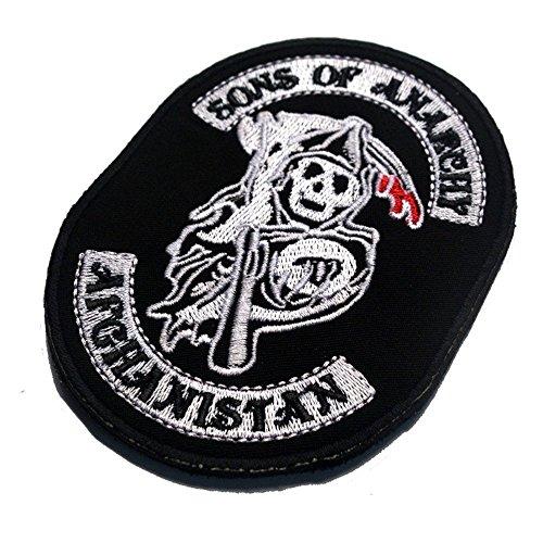kingnew Söhne la anarquía Halloween bordado Militares Táctica parches adornos para ropa ropa Ganchos/Loop