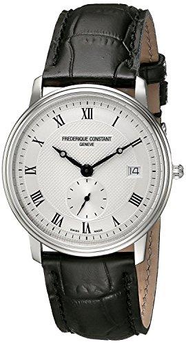 フレデリックコンスタント Frederique Constant Men's FC-245M4S6 Slim Line Analog Display Quartz Black Watch [並行輸入品]