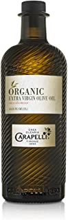 Carapelli - Organic Extra Virgin Olive Oil: Cold-Pressed Organic EVOO – 33.8 Fluid Ounces (1 Liter)