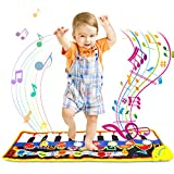 ONME Piano Mat, Soft Baby Early Education Portable Music Piano Keyboard Carpet, Safe Electronic Keyboard Play Blanket, Colorful Dance Mat-24 Keys Piano Toys Music Toy Mat for Children