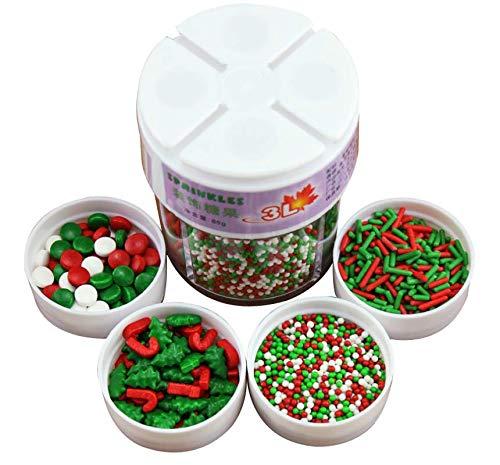 Mini decorazioni commestibili per cupcake e cupcake, 85 g, per feste di matrimonio, feste e decorazioni alimentari, 85 g