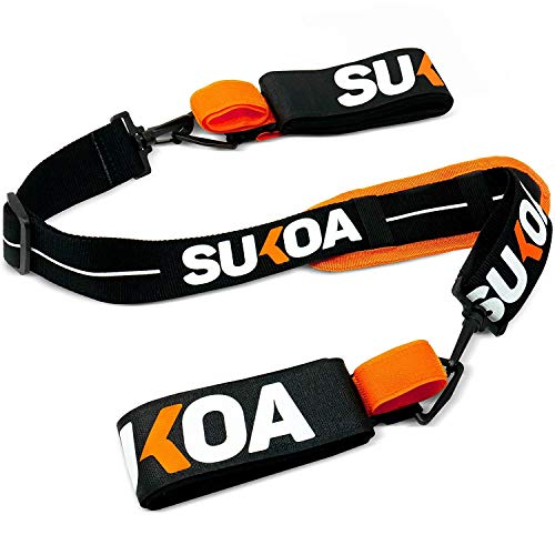 Sukoa Ski & Pole Carrier Straps – Shoulder Sling with Cushioned Holder Protects from Scratches – Downhill Skiing and Backcountry Gear Ski Accessories for Men and Women
