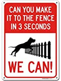 """Funny Beware of Dog Sign, 10"""" x 14"""" Industrial Grade Aluminum, Easy Mounting, Rust-Free/Fade Resistance, Indoor/Outdoor, USA Made by MY SIGN CENTER"""