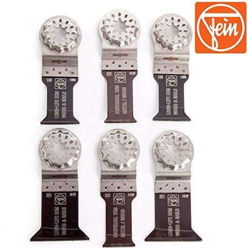 FEIN 35222952300 Starlock E-Cut Juego de 6 cuchillas multiherramientas de madera/metal