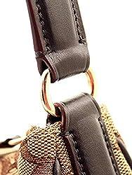Coach Signature Zip Shoulder Bag (IM/Khaki/Brown)
