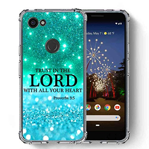 for Google Pixel 3a XL Case (2019), SuperbBeast [Proverbs 3:5 Trust in The Lord with All Your Heart] Ultra Slim Thin Protective Case Cover/Reinforced Corner