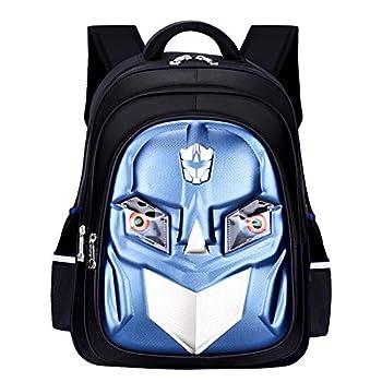 LTDH Waterproof School Backpack 3D Kids Backpack Transformer School Bag Durable Student Backpack With Eyes Flash  Darkblue