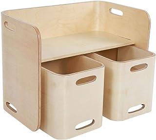 GOTOTOP Table et 2 Chaises pour Enfant en Bois Courbé Ensemble Table et Chaises Enfants, Usages Multiples, Bouleau de Haut...