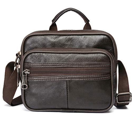 Fliyeong Boutique Herrentasche Leder Herren Umhängetasche Multifunktions Messenger Bag Business Tasche Herrentasche Ledertasche Kreativ und Nützlich