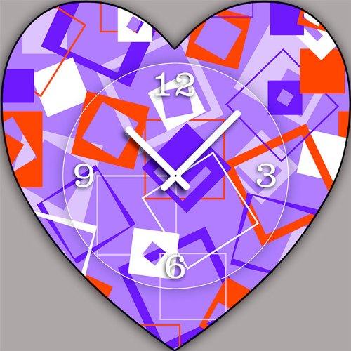 Reloj De Pared Vintage Modelo Corazón V100–Tamaño 40cm x 40cm–DIXTIME. Relojes de Pared