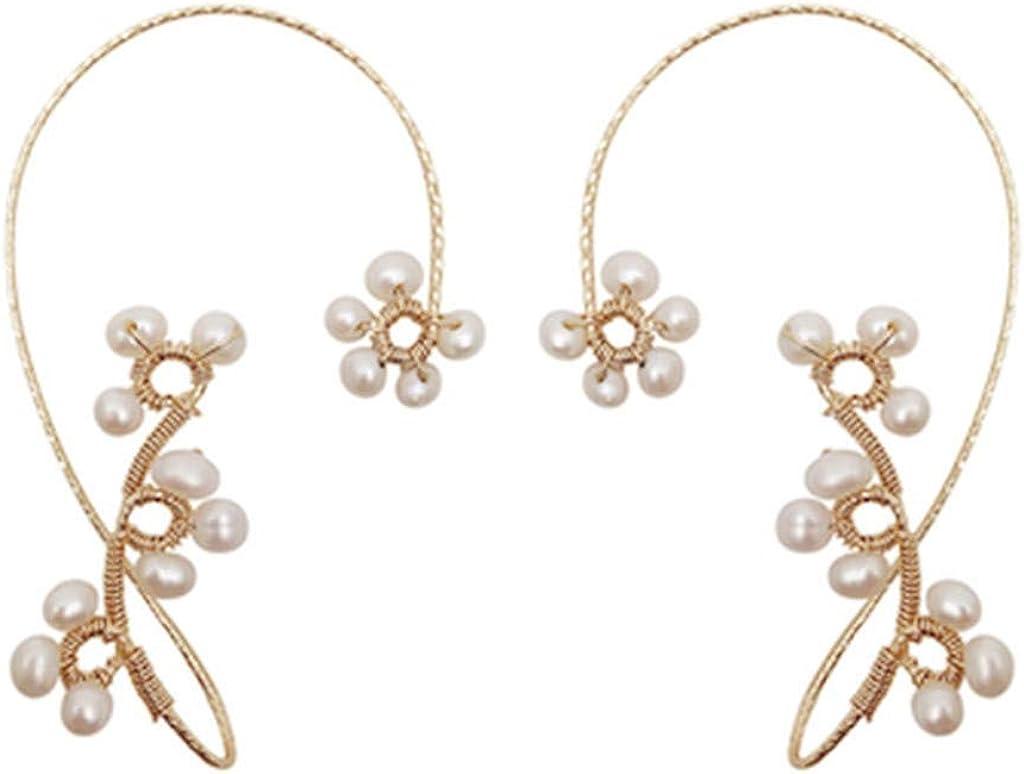 Set of 2 Beading Ear Hook, Beading Ear Hook, Double Beading Ear Hook, No Piercing, Fashion Handmade Beaded Earrings,Jewelry Gift for Women Girls Fashion Daily Use