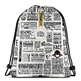 AOOEDM Drawstring Bags The Wise Words Of Dwight Schrute (camiseta ligera)...