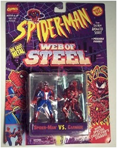 marca Spiderman Web Web Web Of Steel Die Cast Metal Collectible Figures - Spiderman vs Carnage by Web of Steel  alta calidad