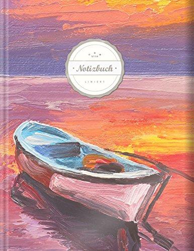 """Liniertes Notizbuch (Star, A4, 156 Seiten, Softcover)    Mit Register + Doppelrand + Lineatur 27    Dickes Notizbuch, Fester Einband, Deutschheft, Schreibheft, Schulheft, Tagebuch, """"Sehnsucht"""""""