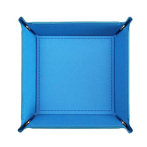 Würfeltablett aus PU-Leder für Würfelspiele wie andere Tischspiele, zusammenklappbar, quadratisch