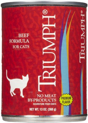 Triumph Adult Can Cat Food Case 13oz Beef