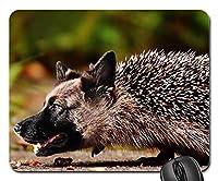 ゲーミングマウスパッド滑り止め、マウスマット、シェパードハリネズミ犬野生動物自然動物
