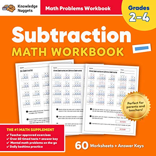 Subtraction Math Workbook Audiobook By Knowledge Nuggets cover art