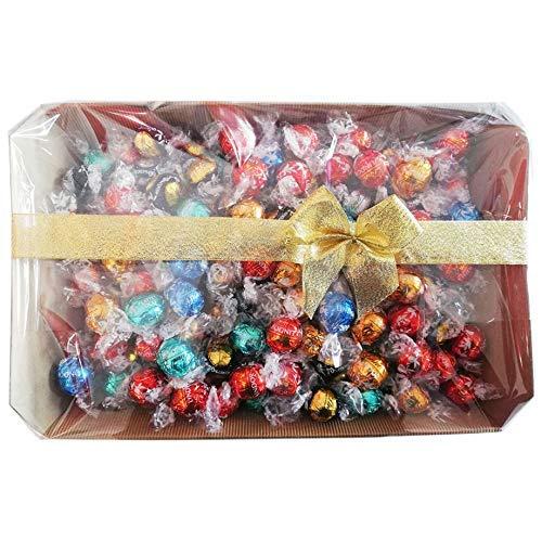 Mix di cioccolatini assortiti Lindt, confezione con elegante scatola REGALO da 1 KG , tantissimi gusti provali tutti! idea regalo natale,san valentino