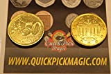 QUICK PICK MAGIC PAR DE Real Doble Cara 50 CENTAVO Euro [1 Dos Caras y 1 Dos Cruz Euro Moneda]