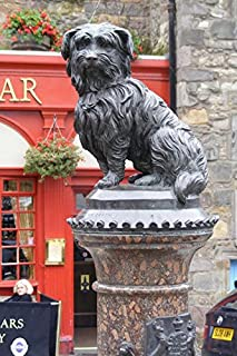 Greyfriars Bobby Dog Statue in Edinburgh Scotland Journal: 150 Page Lined Notebook/Diary