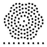 TOAOB 262 Piezas 8 mm Ojos Móviles Blanco Negro de Plástico Redondo Autoadhesivo Utilizados para Manualidades de Scrapbooking Accesorios