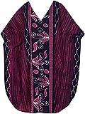 LA LEELA Mujer Kaftan Algodón Túnico Batik Kimono Estilo Más tamaño Vestido para Loungewear Vacaciones Ropa de Dormir & Cada día Cubrir para Arriba Tops Camisolas Playa Rosa_Y596