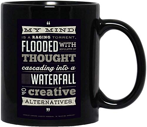 DKISEE My Mind is A Raging Torrent Flooded with Rivulets of Thought Pster divertido lindo disfraz de meme para hombres y mujeres, taza de caf regalo para mujeres y hombres