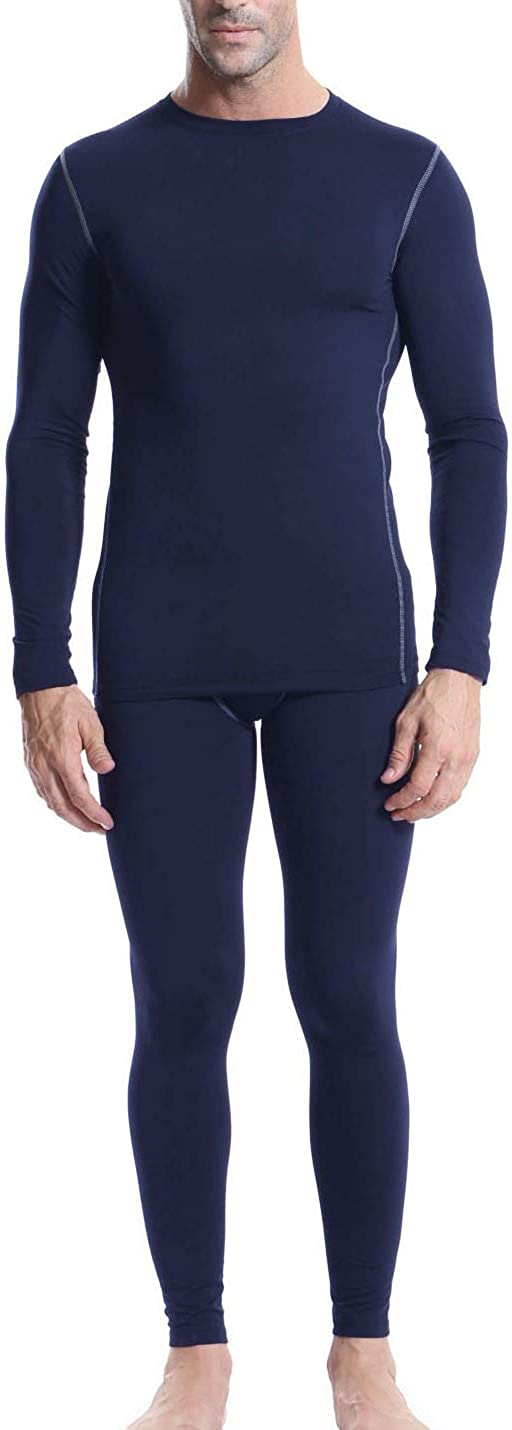 Arcweg Camiseta T/érmica Manga Larga Hombre Mallas Hombre Running Leggins Deportes Conjunto T/érmico Hombres Interior Polar Forro Transpirable El/ástico Invierno Esqu/í Talla S-XL EU