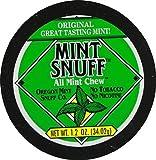 Oregon Mint Snuff Co. - Mint Snuff All Mint Chew - Original Mint Flavor 1.2oz Tin (5 Cans)