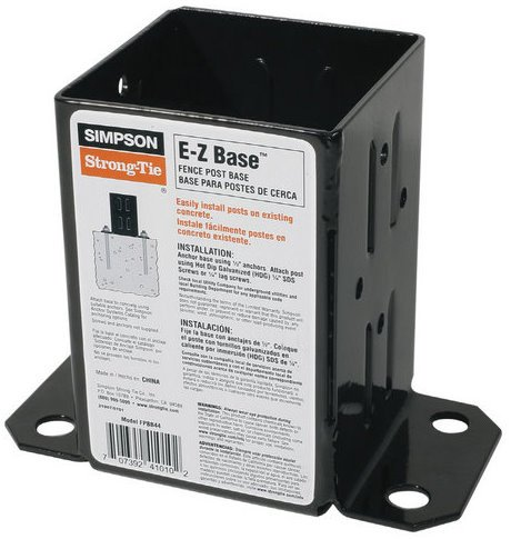 10 Pack Simpson Strong Tie FPBB44 E-Z Base 4x4 Post Base with Black Finish