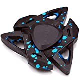 Hand Spinner Triangular Design Metal Fidget Spinner Fidget Gyro Toy EDC Focus Meditation Break Bad Habits ADHD with Premium Bearing (Blue)