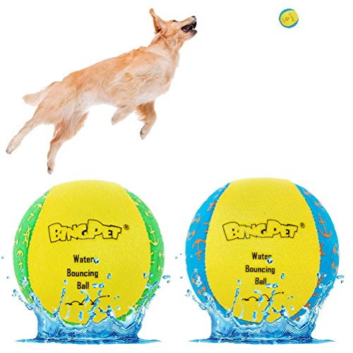 Dog Water Toy Bouncing Ball - 2 Pack Floating Toys for Pool & Lake - Doggie...