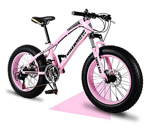 Bicicletas de montaña para adultos, 20/24/26 pulgadas de bicicleta de montaña de neumáticos de grasa, marco de doble suspensión y tenedor de suspensión Toda la bicicleta de montaña de terreno, negro,
