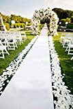Wedding Aisle Runner White 24 in×16 ft Aisle Runner Rug Aisle Carpet Runner Perfect for Indoor Outdoor Beach Weddings