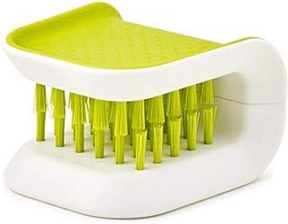 yyuezhi Cepillo de Limpieza de Cocina Cuchillo de Limpieza y Tenedor Palillos Cepillo Cepillo de Vajilla Cepillo de Doble Cara Herramientas de Cepillos de Limpieza en Forma de U Cepillo Verde 1 pieza