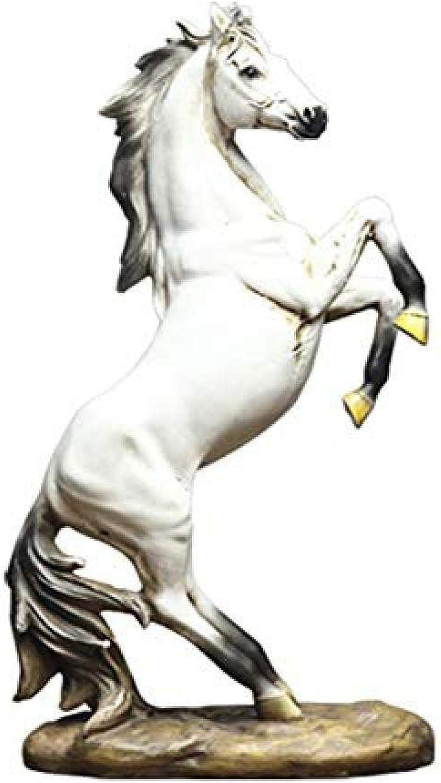 Más asequible DSFGHE DSFGHE DSFGHE Esculturas Decoraciones Arte Artesanía Resina Caballo Estatua Hogar Creativo Moda Animal Escultura Ornamento Regalos  autorización