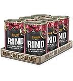 Belcando Super Premium Dose [6x400g Rind mit Kartoffel & Erbsen]   Nassfutter für Hunde   Feuchtfutter Dose   Alleinfutter für Hunde Aller Rassen