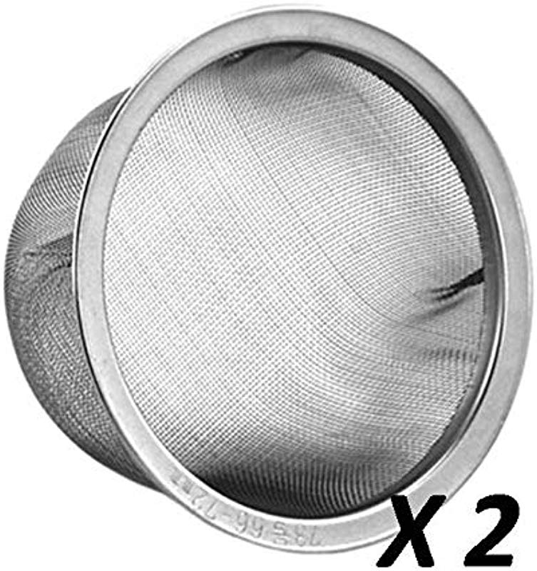 2 PCS 66 72mm Diameter Teapot Replacement Stainless Steel Mesh Strainer Infuser Made In Japan