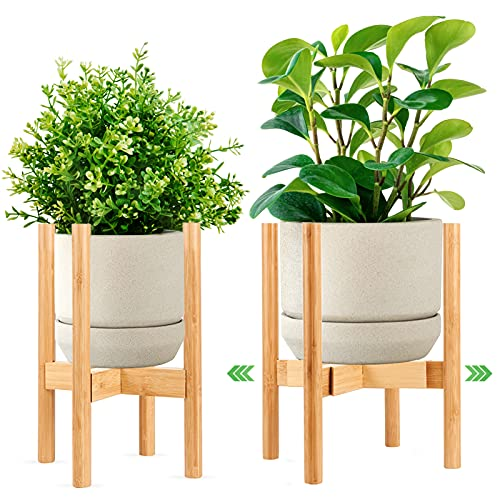 Plant Stands for Indoor Plants, GOODJOB Adjustable Indoor Plant Stand for Pot 8 9 10 11 12 in, Multi-Purpose Plant Holder for Living Room, Corner, Balcony and Bedroom(1 Pack,Only Plant Stand)