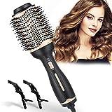 Dee Banna Cepillo secador de pelo, cepillo de aire caliente, secador de pelo y voluminizador, cepillo eléctrico 3 en 1 de aire, rizador y plancha de pelo para todos los tipos de cabello