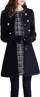 Wool Lapel Trench Parka Coat Women Warm Outwear Long Jacket Overcoat