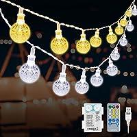 Globe String Lights Waterproof 55 FT 100 LED