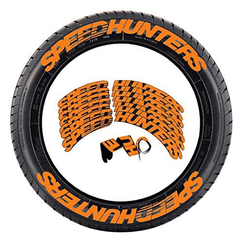 SPEED HUNTERS Reifenaufkleber, Autoreifen modifizierte Buchstabenaufkleber, Radaufkleber Auto-Tuning Universal Auto Motorrad Reifen Aufkleber Etikett für die meisten Auto Motorrad